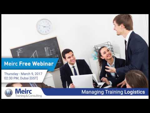 Managing Training Logistics | Supply Chain and Logistics Management | Dubai | Meirc