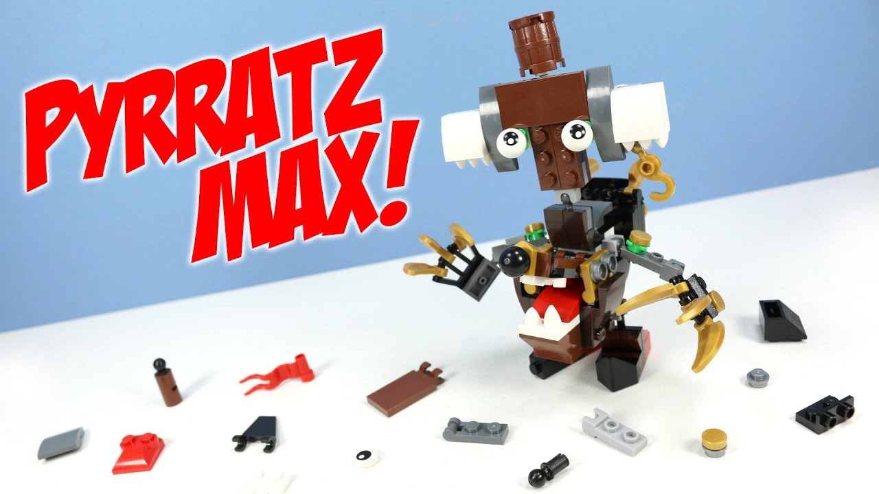 Lego Mixels Series 8 Pyrratz Max Pdf Instructions Build Youtube