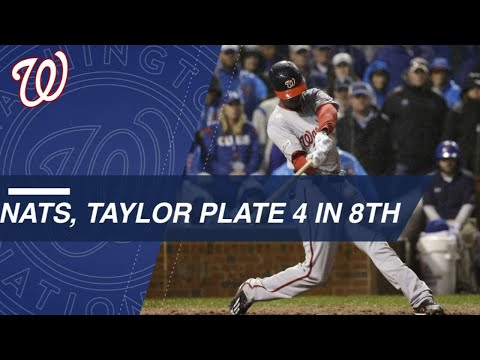 Taylor's slam highlights Nats' 8th in NLDS Game 4