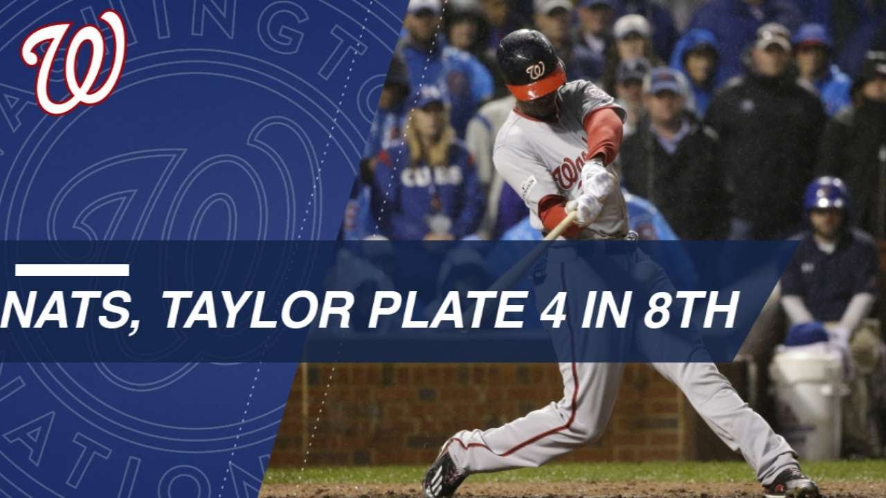 Michael A. Taylor's slam highlights Nationals' big 8th in NLDS Game 4