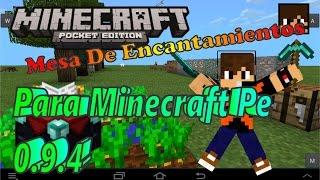 Mesa De Encantamientos MOD Para Minecraft Pe 0.9.4