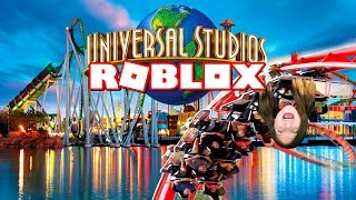 UNIVERSAL STUDIOS in ROBLOX!! RIDING ROLLER COASTERS WITH LYRONYX! | KID GAMER GIRL CHANNEL