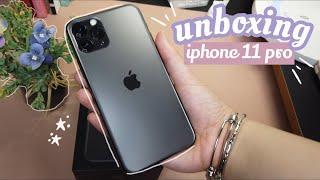 unboxing iphone 11 pro (2020) ✨