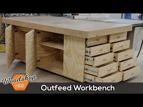 Outfeed Workbench, Torsion Box Top & Downdraft Sanding | DIY Woodworking