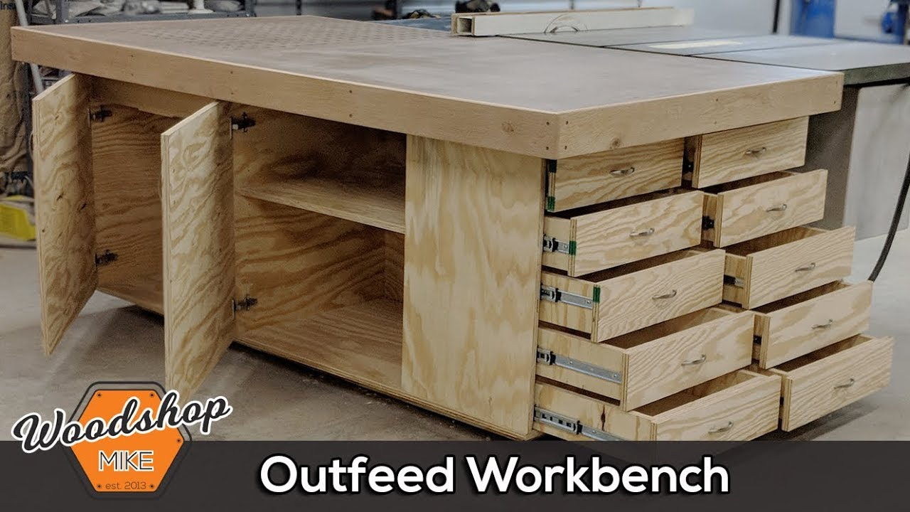 Outfeed Workbench Torsion Box Top Amp Downdraft Sanding