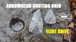 Ohio Arrowhead Hunting BLACK KNIFE Archaeology Discovery History Channel