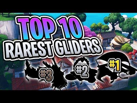 Top 10 RAREST Gliders In Fortnite! (Fortnite Battle Royale)
