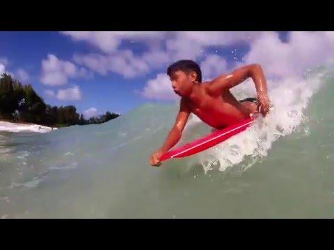 Laie (Pounders)Beach  Park Body Boarders 2/14/2016