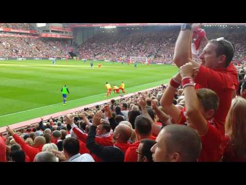 """Fields of Anfield Road"" sung by the main stand vs Leiccester 10/09/2016"