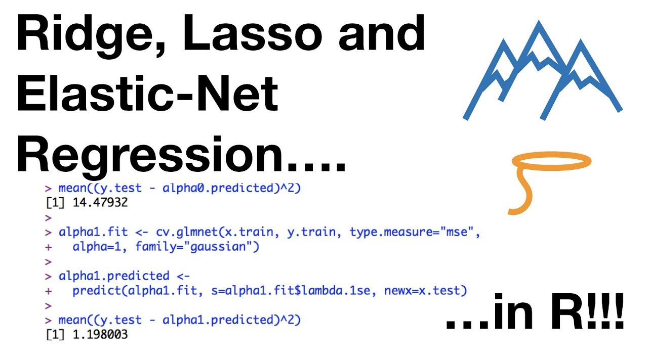 Ridge, Lasso and Elastic-Net Regression in R
