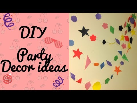 DIY Party Decor Ideas | Paper wall hanging | EP-24