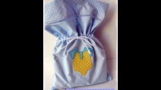 Saquinho para roupas de bebê – Costura sem medo