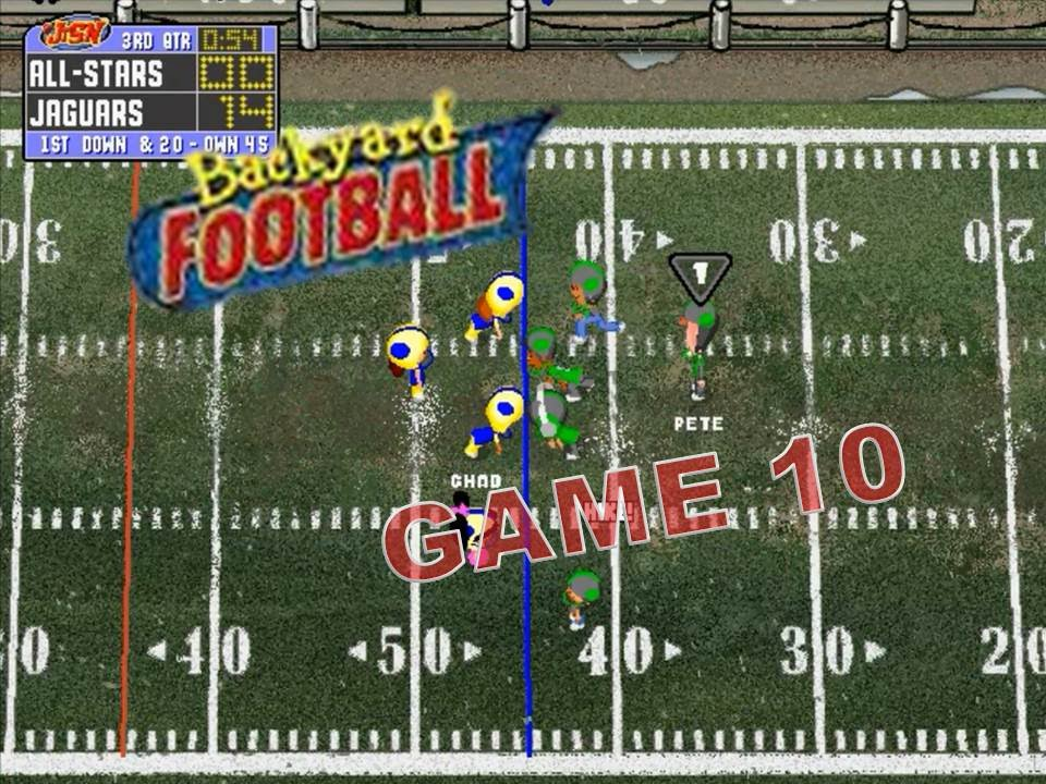 Backyard Football 1999 (PC) Game 10: An All-Star Whooping ...