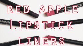 New Red Apple Lipstick Eye and Lip Liners // Vegan, Non Toxic, Cruelty Free!