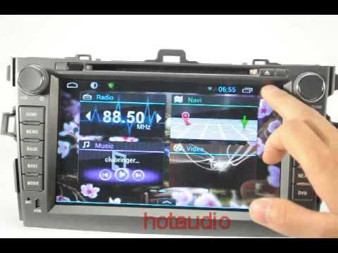 Car Dvd For Toyota Corolla 2007 2011 With Pure Android 4 1 Dual Core Cpu 1g Ram 1g