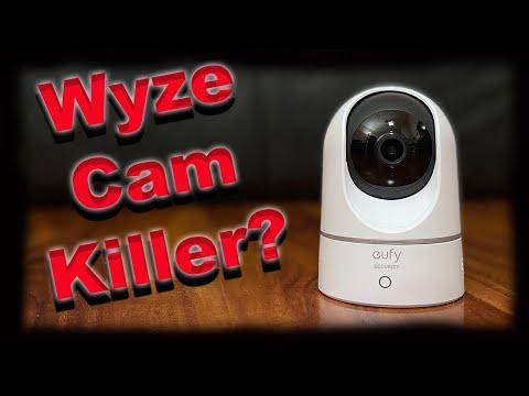 Eufy Indoor Cam 2K Pan - Better Than Wyze Cam? Works with Homekit, Alexa, Google etc!