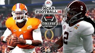 NCAA Football 16 -  CFP National Championship | #2 ALABAMA vs #1 CLEMSON | Is NCAA Football is Back?