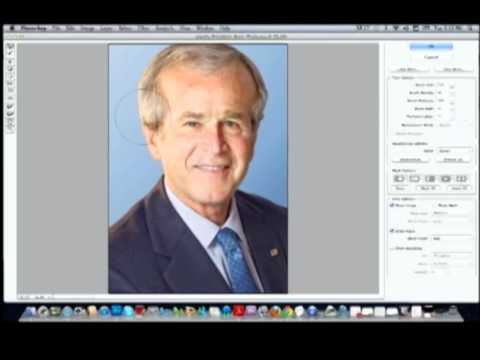 PhotoShop Tutorial - Celebrity Caricature using the liquify tool