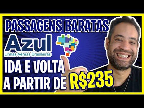 VOE AZUL PROMOÇÃO RELÂMPAGO A PARTIR DE R$235 IDA E VOLTA HOJE!