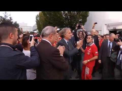 Il saluto di Luca di Montezemolo alla Ferrari