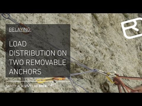 Guide to belaying: Load distribution with two removable anchors