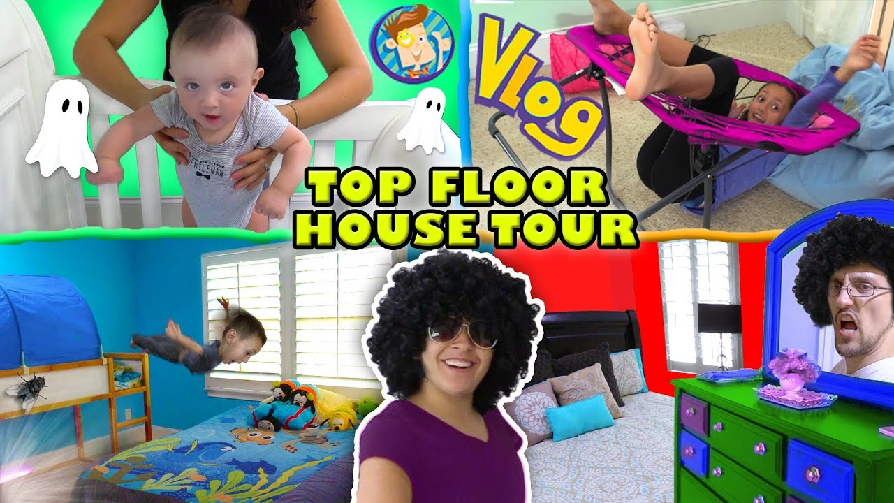 HOUSE TOUR 1 0  The Top Floor w  Lexi, Shawn, Chase, Mom & Dad Rooms FUNnel Family Vlog