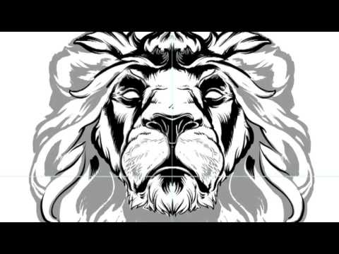 Lion: Line Work in Adobe Illustrator