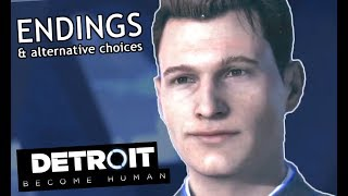 Detroit: Become Human ENDINGS (Good & Bad) Alternative Choices, Connor Mission Gameplay Walkthrough
