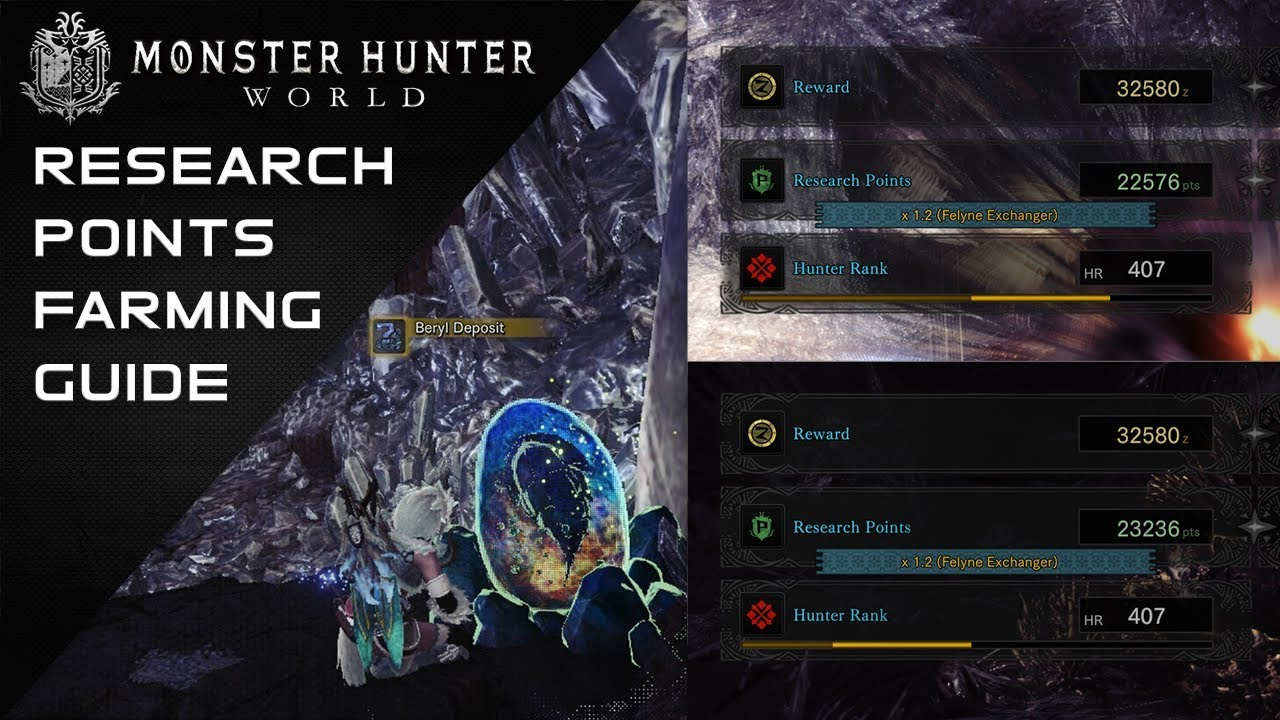 Mhw Guide How To Farm Research Points Youtube