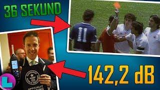 Najszybsza czerwona kartka w historii! | 142,2 dB na stadionie! | REKORDY w PIŁCE NOŻNEJ!