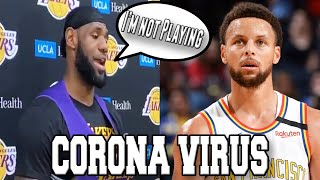 The Corona Virus is COMPLETELY CHANGING NBA BASKETBALL & ITS SCARY! Fans banned NCAA March Madness!