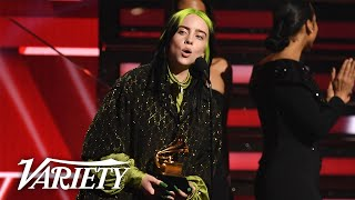 Billie Eilish Wins Top Grammy Awards - Full Backstage Interview