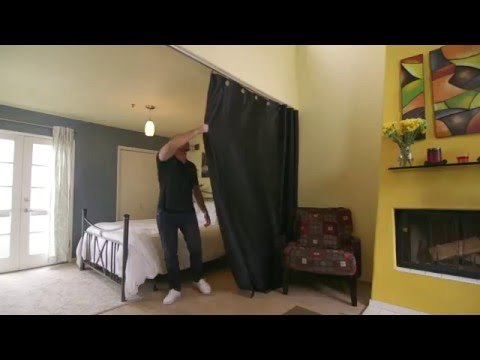 Ceiling Track Room Divider Kit How To Video #DivideAndConquer