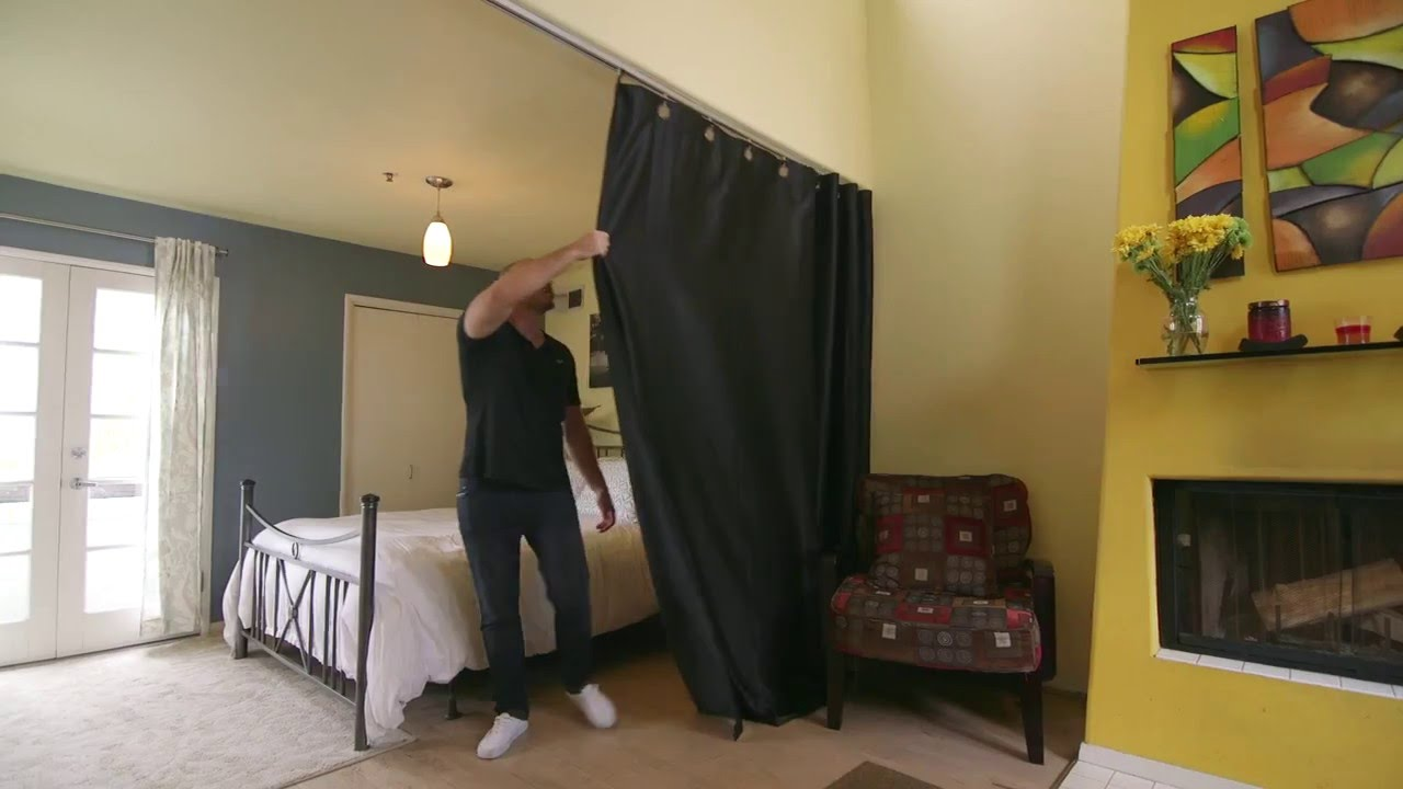 ceiling track room divider kit how to video divideandconquer