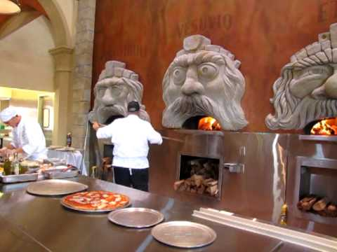 Via Napoli Epcot New Italian Restaurant Dining Area And Ovens