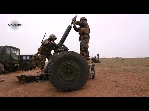 U.S. Marines 2/11, JGSDF Fire 120mm Mortars