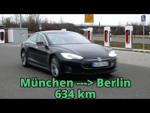 Tesla Model S Roadtrip München nach Berlin - Supercharger Strategie, Autopilot und Fahrspaß!