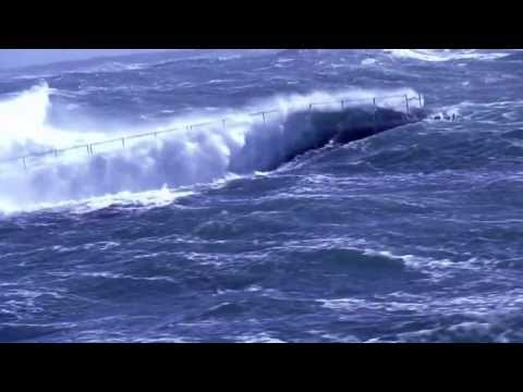 Warship Vs Big Waves