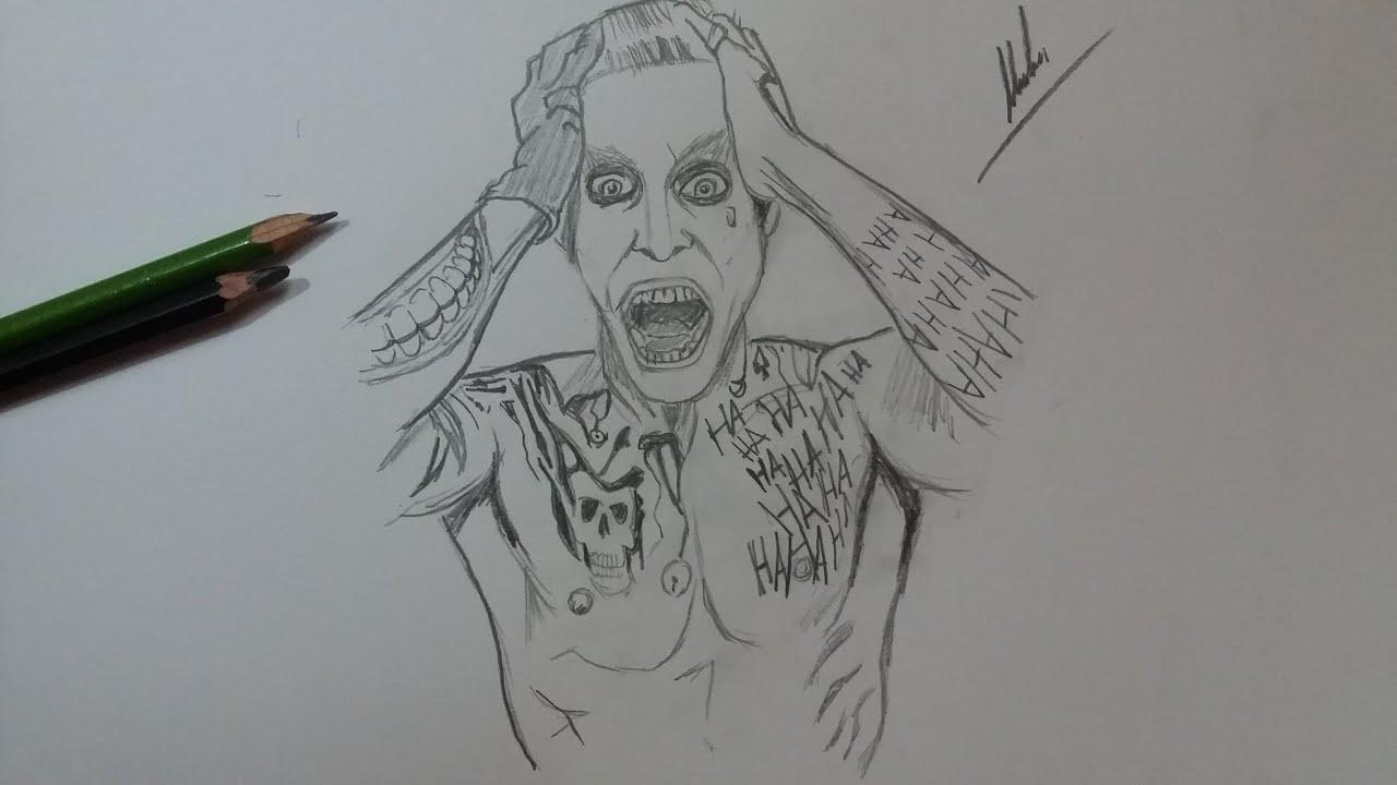 Dibujo Del Guason Suicide Squad Drawing Joker Suicide Squad
