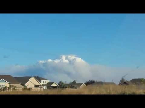 Fire in Weld County, Colorado Sends Up Huge Column of Smoke