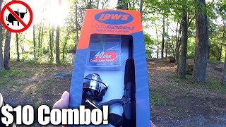 A Lew's Combo for $10? Cheap Walmart Combo Fishing Challenge!