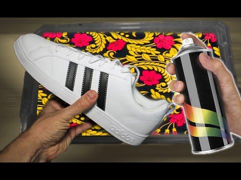 Покрасил кроссовки Adidas х Хохлома кастом - CHELIK