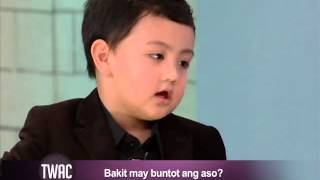 Kids say the cutest things: Alonzo Muhlach answers Igan's questions on TWAC