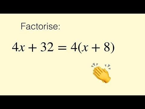 Factorising Algebraic Expressions ( factoring / factorizing )