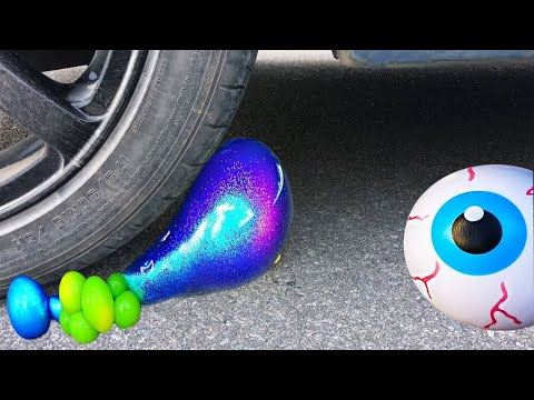 Shredding Slime Bought Store !! Crush The Crunchy Things By Car !! Antistress slime