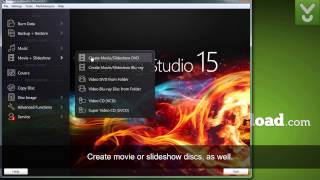 Ashampoo Burning Studio 15 - Burn discs, back up files, create slideshows - Download Video Previews