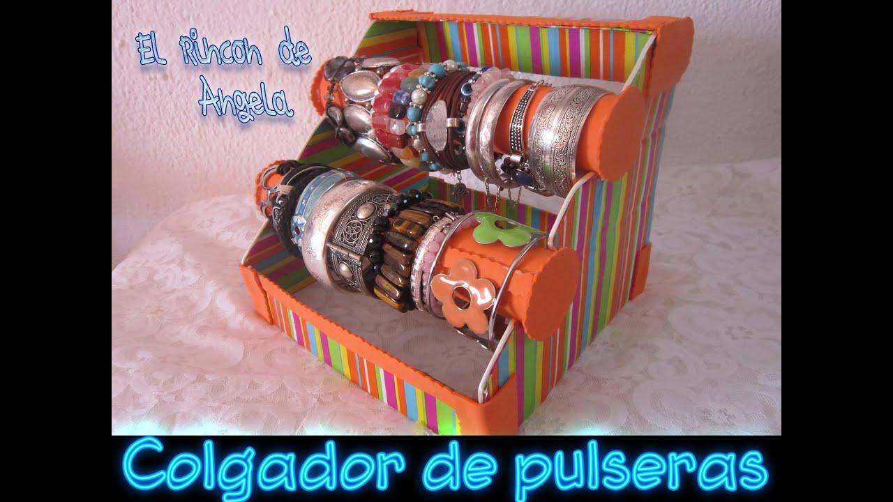 d5f93d2cbe91 Como hacer un organizador de pulseras con material reciclado ...