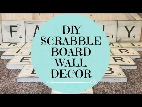 FARMHOUSE SIGN DIY | SCRABBLE TILE WALL DECOR | RUSTIC FARMHOUSE DECOR DIY | FARMHOUSE DECOR