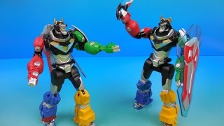 VOLTRON SWORD ATTACK and LION ATTACK 6 INCH ACTION FIGURE VIDEO TOY REVIEW
