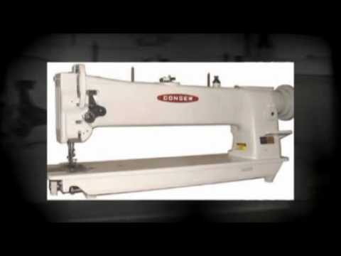 Consew Industrial Sewing Machine YouTube Unique Consew 230 Sewing Machine